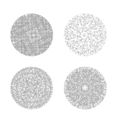 set of four hand drawn circle banners vector image