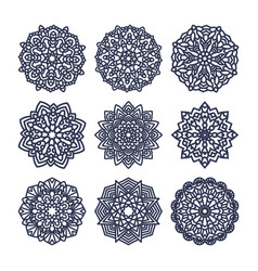 Set of mandalas indian wedding meditation vector