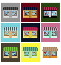 Set of of toy shop vector