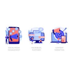 Smm concept metaphors vector