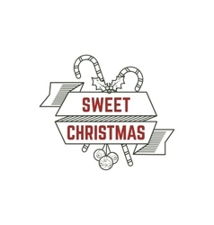 Sweet Christmas typography sign with candies toys vector image