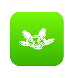 Tap gas icon green vector