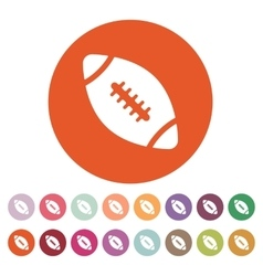 The football icon Rugby symbol Flat vector image