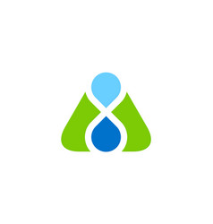 triangle water drop logo vector image