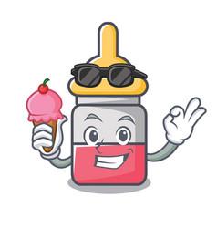With ice cream nassal drop character cartoon vector