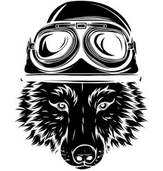 wolf vintage logo stock design vector image