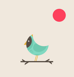 bird on branch2 vector image vector image