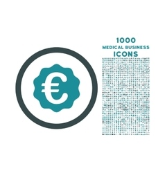 Euro Reward Seal Rounded Icon with 1000 Bonus vector image vector image