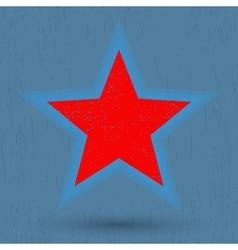 Grunge star background vector image