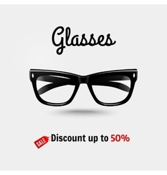 Realistic glasses sale banner vector image vector image