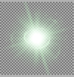 star burst with sparks green color vector image