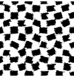 The pattern of black grunge rectangles vector image vector image