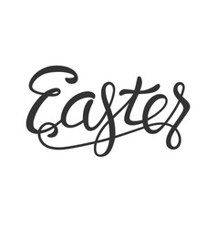 Easter lettering black isolated on white vector