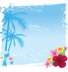 grunge tropical banner vector image vector image
