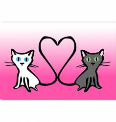 kitty love vector image vector image