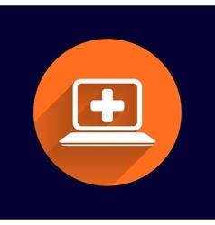 Medical care design over blue background vector image