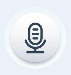 microphone icon linear style vector image vector image