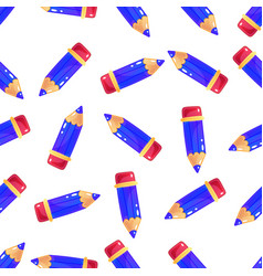 simple little cartoon pencil background seamless vector image vector image