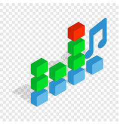 Equalizer scale isometric icon vector