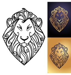 lion perfect vector image vector image