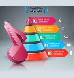 music education infographic note icon vector image