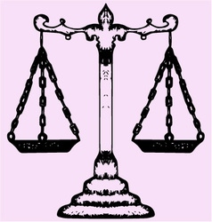 scales justice vector image vector image