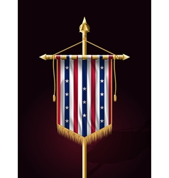 Stars and Stripes Vertical Banner vector image vector image