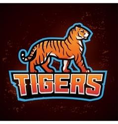 Tiger mascot Sport logo design template vector image vector image