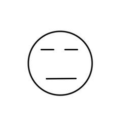 calm emoticon vector image vector image