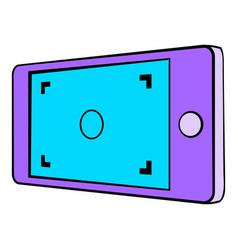 Camera viewfinder icon cartoon vector