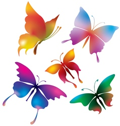colored butterflies vector image vector image