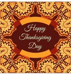 happy thanksgiving invintation frame vector image vector image