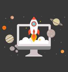launching start up concept vector image