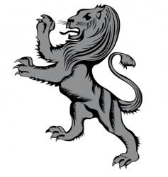 lion herald vector image vector image