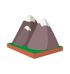Rocky Mountains Canada icon cartoon style vector image