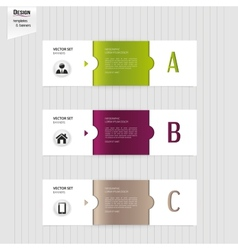 Set of colorful banners bookmarks labels website vector image vector image