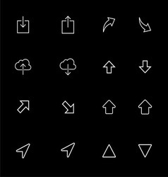Up Down Outline Icon Set vector image