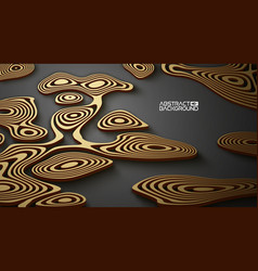 3d luxury background abstract gold on black vector image
