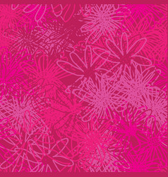 abstract pink flowers-monochromatic flowers vector image