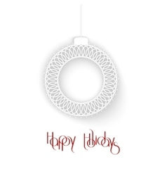Abstract White Ornamental Christmas Ball creative vector image