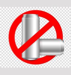 Ban bottleno metall bottles vector