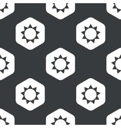 Black hexagon sun pattern vector