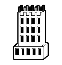 building under construction black silhouette vector image