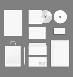 business identity stationary office branding vector image