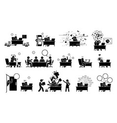 Busy executive ceo worker or businessman vector
