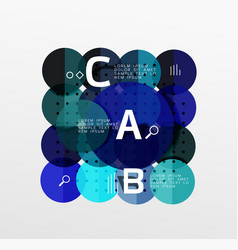 circle modern geometry infographic background vector image