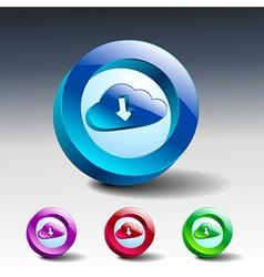 cloud download symbol icon vector image