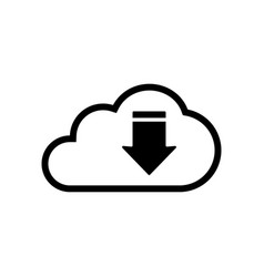 Cloud upload icon isolated on white background vector