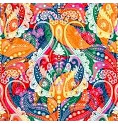 Colorful decorative pattern Ethnic floral vector image
