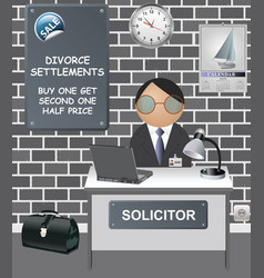 comical solicitors office vector image